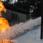 взрыв и возгорание именногаза газгольдера